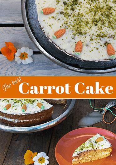 Saftiger Carrot Cake mit Frischkäsefrosting Pinterestpost