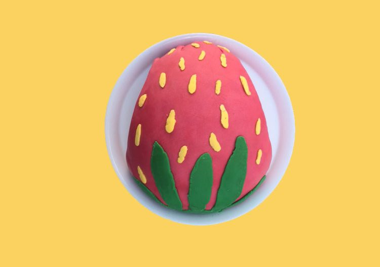 Motivtorte Erdbeere