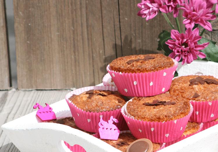 Toffifee Muffins dekoriert