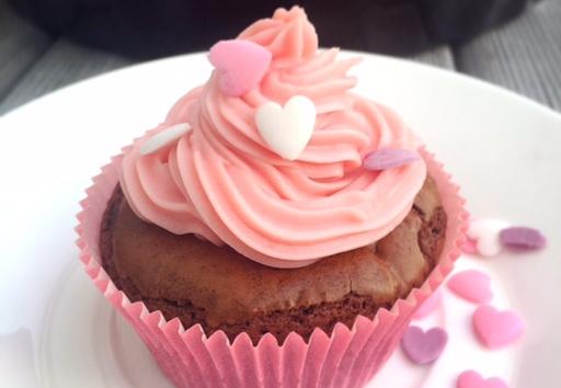 Herz auf Topping des Cupcakes