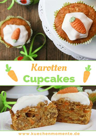 Karotten Cupcakes zu Ostern