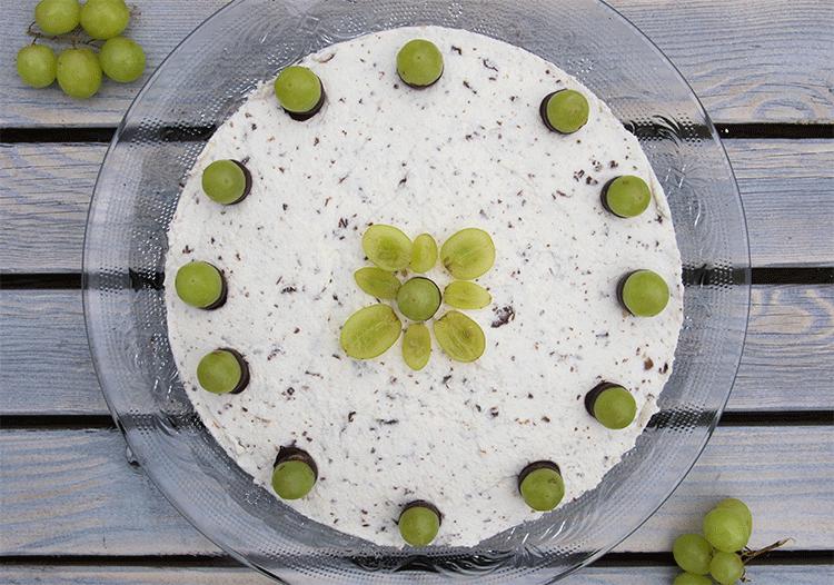 Schoko-Trauben-Nuss-Torte Aufsicht