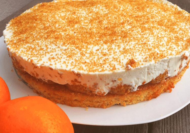 Mandarinen Schmand Torte Kuchenmomente