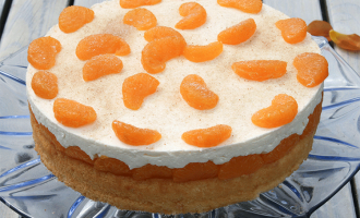 Mandarinen-Schmand-Torte, fruchtig und cremig