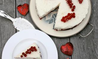 Johannisbeer-Mascarpone-Torte von oben