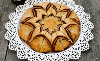 Brotblume mit Nutella von oben