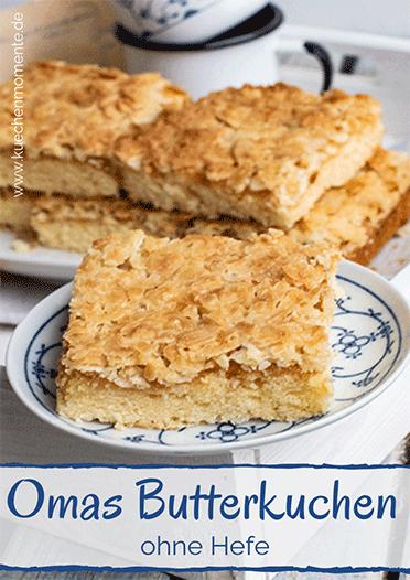 Butterkuchen von Oma Pinterestpost