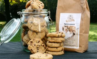 Haferflockenmehl Cookies mit Schokolade