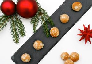 Mandel-Marzipan-Kugeln zu Weihnachten