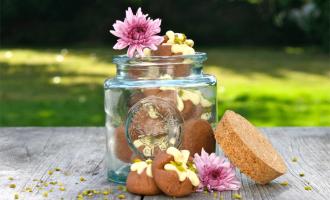 Schoko-Vulkan-Kekse im Glas
