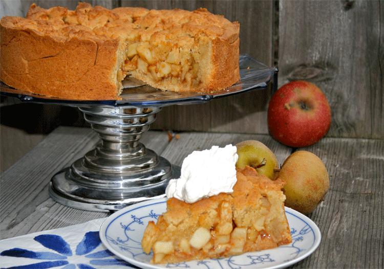 Leckerer Apfelkuchen nach einem Rezept aus den Niederlanden