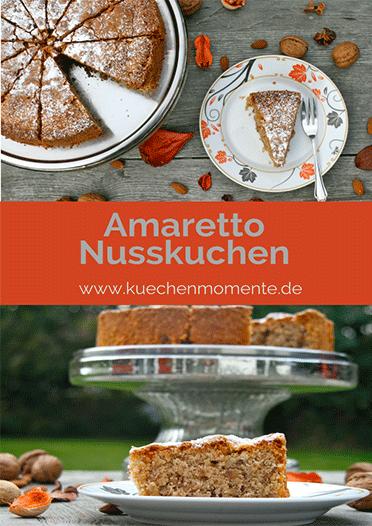 Nusskuchen mit Amaretto