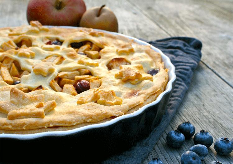 Apple Pie mit Blaubeeren
