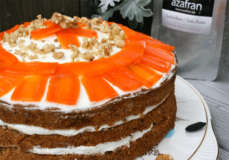 Ruebli-Torte mit Walnüssen