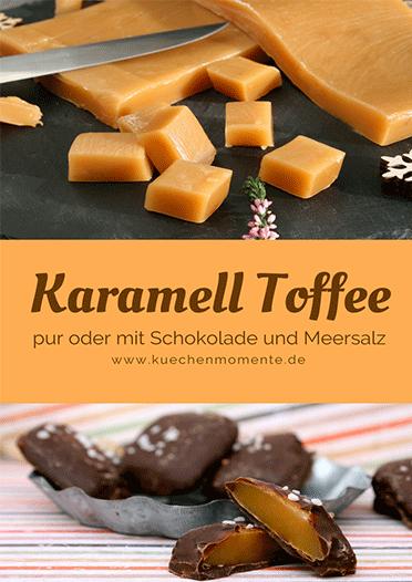 Karamell Toffee mit Schokolade und Meersalz