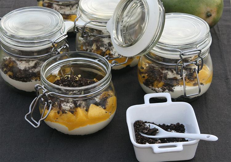 Mango Mascarpone Dessert mit Oreo