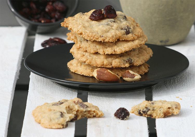 Cranberry, Haferflocken, Paranuss - das alles ist in diesen leckeren Cookies