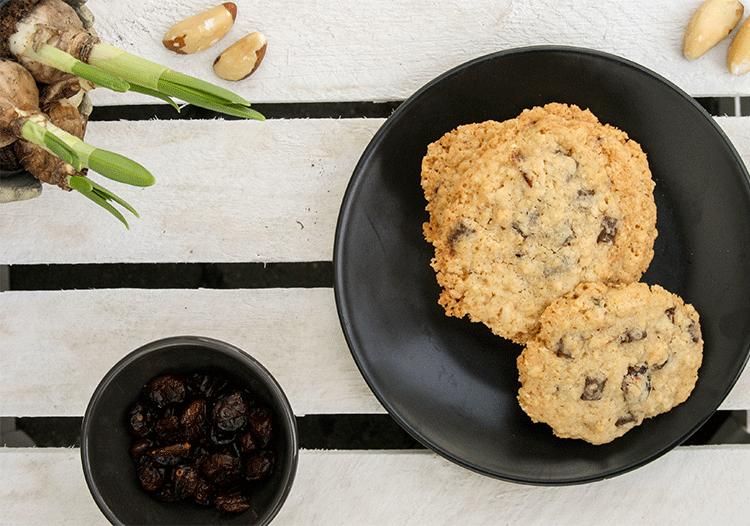 Haferflocken-Cookies mit Paranuss und Cranberry