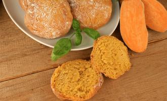 Süßkartoffel-Brötchen mit knackiger Kruste