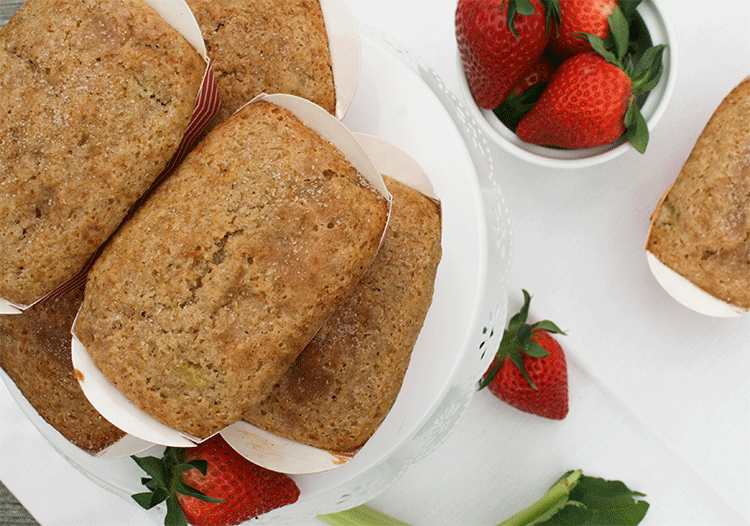 Rhabarber Erdbeer Muffins