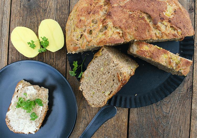 Veganes Kartoffel-Zucchini-Brot