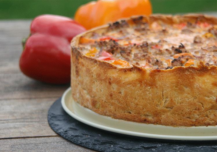 Paprika Hackfleisch Kuchen Kuchenmomente