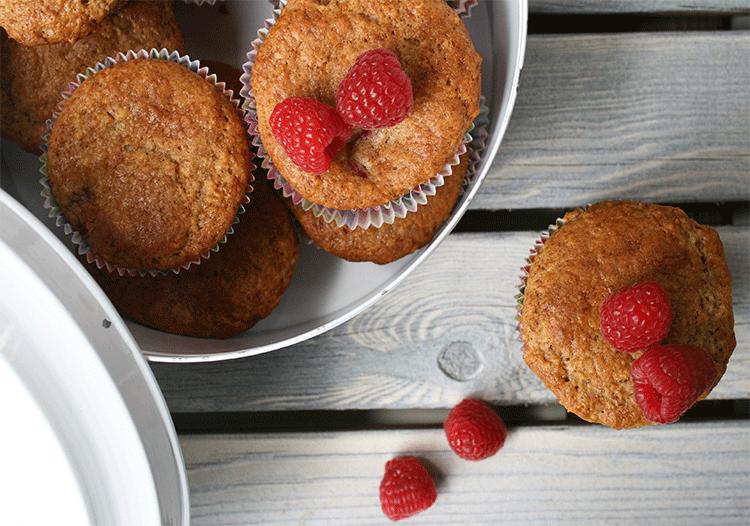 Himbeer Haferflocken Muffins