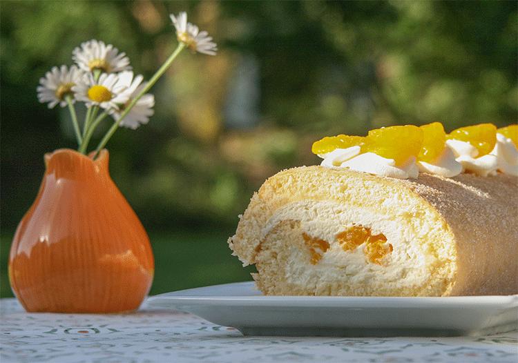 Perfekt für den Sommer - Biskuitrolle mit Quark-Mandarinen-Füllung