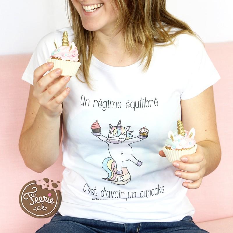 """Einhorn T-Shirt """"Ausgeglichene Diät"""""""