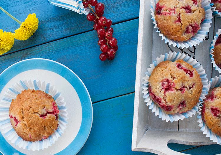 Schnell gemacht und richtig lecker - Johannisbeer: Mandel-Muffins