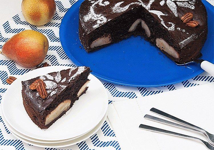 Schokoladen-Birnen-Kuchen