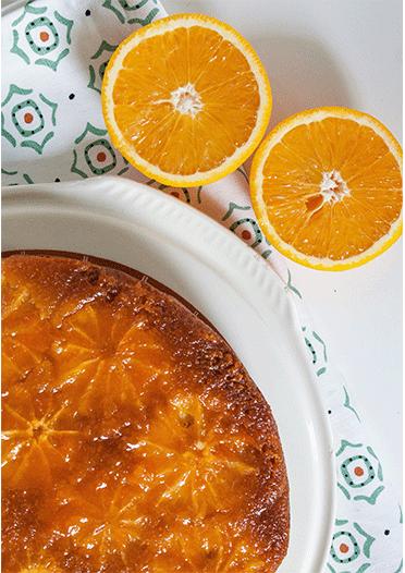 Torta di polenta arancia