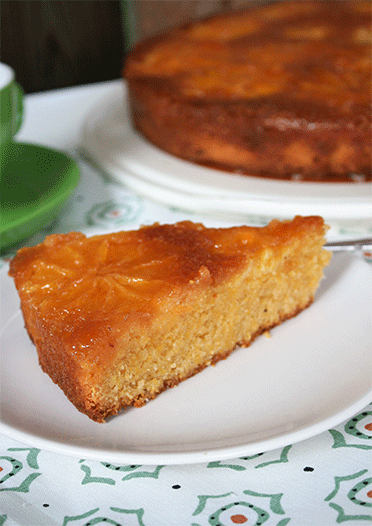 Upside down Polenta Orange Kuchen