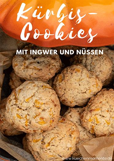 Kürbis-Cookies mit Ingwer und Nüssen