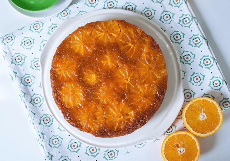 Italienischer Polenta Orangen Kuchen Upside Down Kuchenmomente