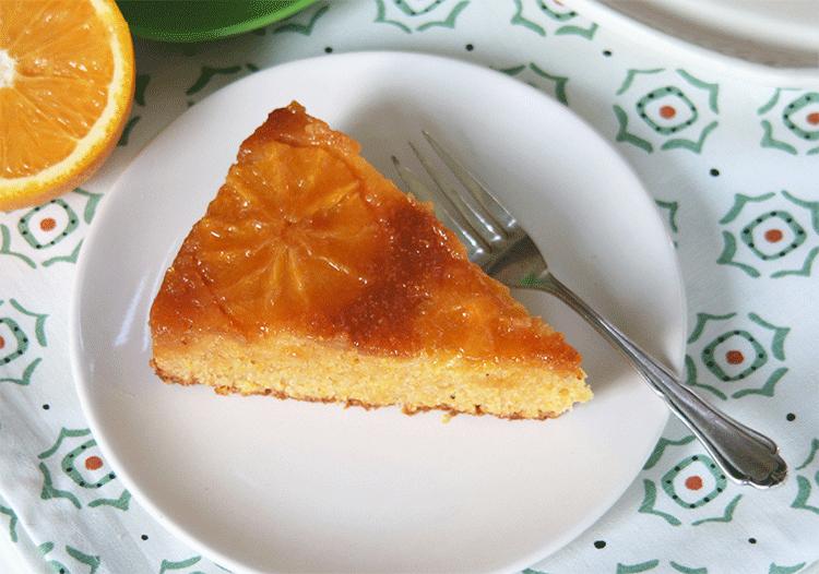Orangenkuchen mit Polenta