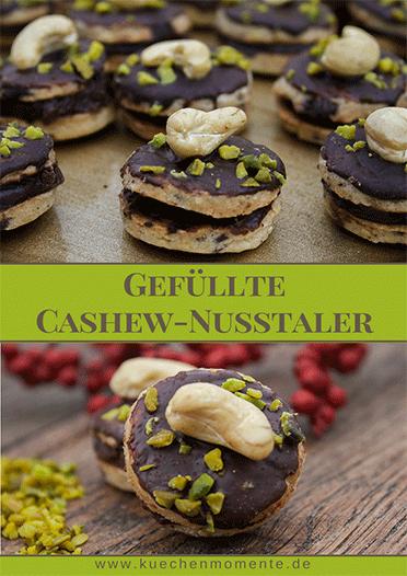 Gefüllte Cashew-Nusstaler