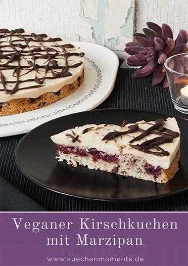 Veganer Kirschkuchen mit Marzipan