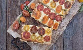 Herzhafte Tomaten-Ricotta-Tarte