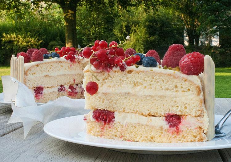 Tortenstück Prosecco-Torte