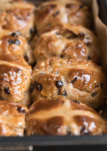 Golden Hot Cross Buns