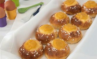 Süße Hefebrötchen mit Apfel & Aprikose gefüllt
