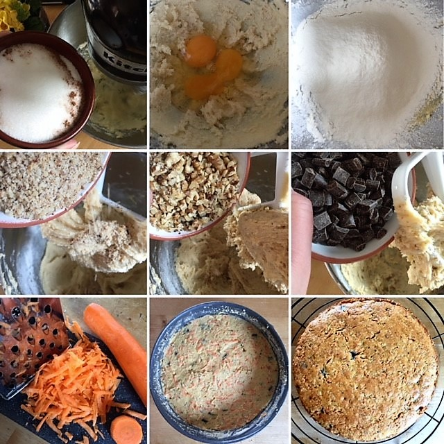 Anleitung für Schokoladen-Karottenkuchen
