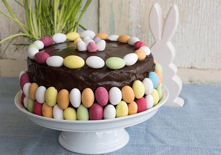 Schokoladen-Sahne-Torte Ostern