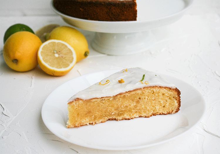 Dänischer Zitronenkuchen mit Marzipan