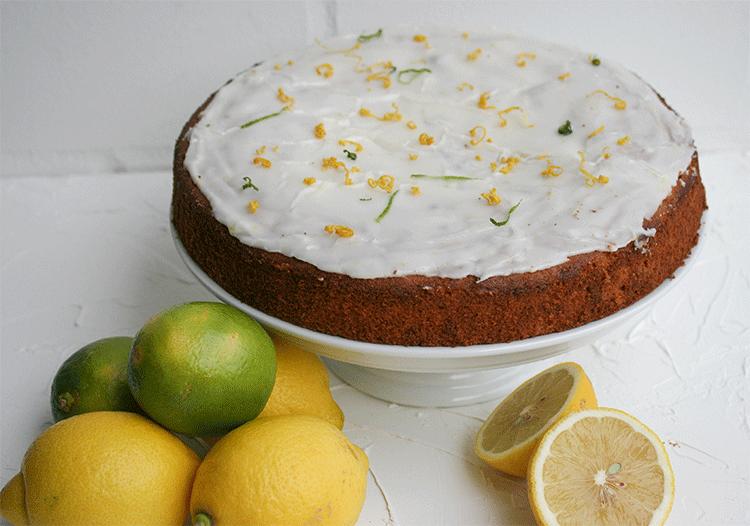 Zitronenkuchen mit Marzipan
