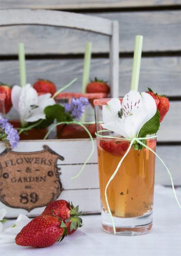 Erdbeer Mojito Bowle