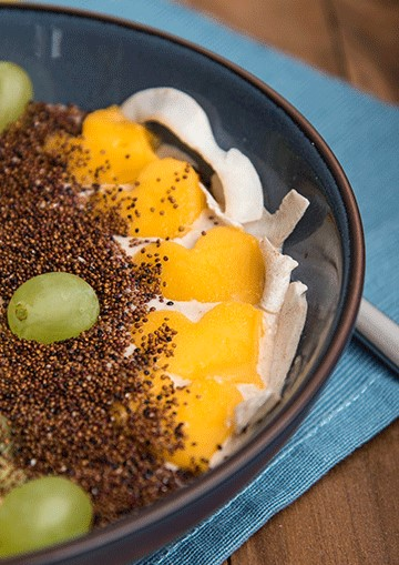 Smoothie bowl mit Canihua
