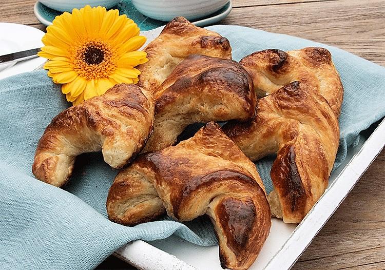 Croissants der erste Versuch