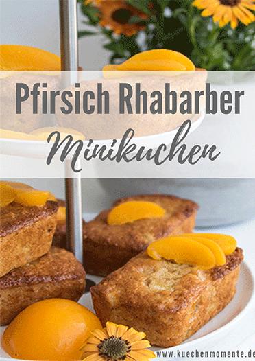 Pfirsich Rhabarber Muffins